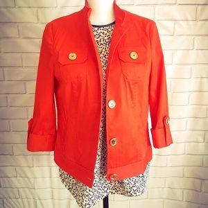 JONES NEW YORK STRETCH Red Dress Jacket.